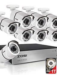 zosi® 8ch 1080p hdmi DVR 1TB HDD 8x Außen 2.0MP wasserdichte IR-Cut-Kugel-Kamera Security Kit CCTV-Systeme