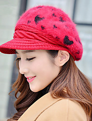 Fashion Winter New Peach Heart Rabbit Head Cap Warm Warm Ear Knit Cap Rabbit Wool Hat