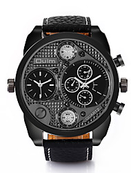 Brand Luxury Military Army Dual Time Quartz Multiple Time Zone Large Dial Wrist Men's Sport Watch