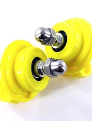 Грызуны Шиншиллы Колесо для упражнений Пластик Желтый