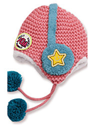 Girl's Knitting Cute Winter Going out/Casual/Daily Keep Warm Solid Color Headset Headgear Baby Hat Children Cap