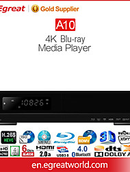 Egreat A10 4K Bluray Media Player with Built in HDD Mobile Rack RS232 Port HDMI2.0A 11.2ch Raw Passthrough HDR10/Doldy VisionDolby Atmos&DTSX