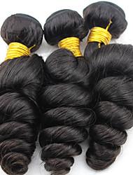 Indian Virgin Hair Loose Wave 3 Bundles AliHair Indian Loose Wave Cheap Human Hair Extensions Indian Loose Curly