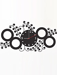 Modern Style Fashion Creative Love Circle Flower Vine Wall Clock