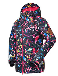 Ski Wear Ski/Snowboard Jackets Women's Winter Wear Polyester Winter ClothingWaterproof Thermal / Warm Quick Dry Windproof Fleece Lining