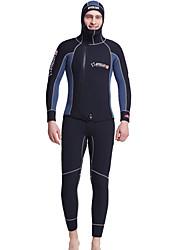 Dive & Sail® Homens 5mm Camisa de Mergulho Capuz de Mergulho Macacão de Mergulho Longo Mergulho SkinsImpermeável Respirável