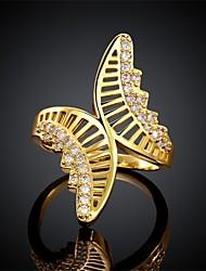 Ring AAA Cubic Zirconia Zircon Cubic Zirconia Copper Golden Jewelry Daily Casual 1pc