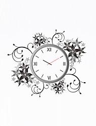 Модерн Цветы и растения Персонажи Духовное развитие Свадьба Семья Друзья Настенные часы,Новинки Пластик Прочее 52*45 Применение Часы