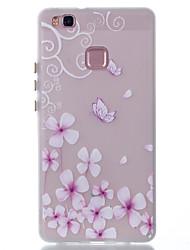 Pour Phosphorescent Motif Coque Coque Arrière Coque Fleur Flexible PUT pour Huawei Huawei P9 Lite Huawei P8 Lite