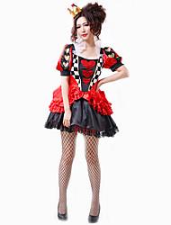 Fantasias de Cosplay Festa a Fantasia Baile de Máscara Mago/Bruxa Princesa Rainha Cinderella Cosplay de Filmes Vermelho XadrezVestido