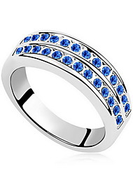 Women's Ring Crystal Zircon Imitation Diamond Austria Crystal Alloy Jewelry For Daily Casual