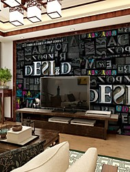 JAMMORY TV Wall Background Wallpaper Bedroom Living Room 3D Stereo Retro Color Letter Wall Background Wall Mural XL XXL XXXL