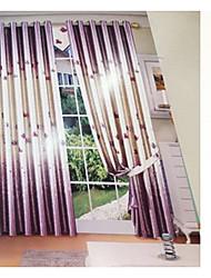 Coleção Tratamento janela Tratamento janela Moderno , Inovador Sala de Estar Mistura de Linho e Poliéster Material Cortinas cortinas