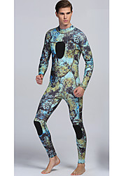 Homens 3mm Roupas de mergulho Drysuits Wetsuits completos Impermeável Térmico/Quente Vestível Fecho YKK ConfortávelNailom Neoprene