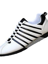 Masculino-Tênis-Conforto-Rasteiro-Preto Vermelho Preto branco-Couro Ecológico-Ar-Livre Casual