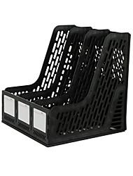 cadre de stockage en rack de fichier de bureau à trois barres multifonctions