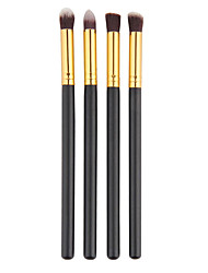 Pro MakeUp Cosmetic Eye Brushes Set Eyeshadow Brush Eye Brow Tools Black(4PCS)