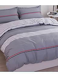 Novelty Duvet Cover Sets 4 Piece Cotton Pattern Reactive Print Cotton Full 1pc Duvet Cover 2pcs Shams 1pc Flat Sheet