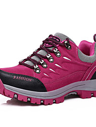 Women's Athletic Shoes Spring Fall PU Outdoor Flat Heel Lace-up Fuchsia Navy Dark Purple Hiking