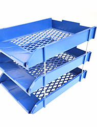 Office Supplies File Frame Three File Basket Data Frame Can Be Superimposed Blue