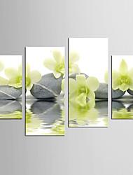 Абстракция Цветочные мотивы/ботанический Modern Реализм,4 панели Холст Любые формы С картинкой Декор стены For Украшение дома