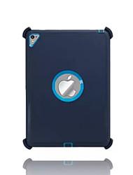 Para Água / Dirt / à prova de choque Com Suporte Capinha Capa Traseira Capinha Cor Única Rígida PC para Apple iPad Pro 9.7 ''