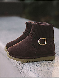 Boy's Boots Winter Other Leather Outdoor Casual Flat Heel Other