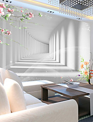 JAMMORY Art DecoWallpaper For Home Wall Covering Canvas Adhesive required Mural 3D White Background XL XXL XXXL