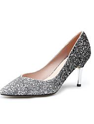 Women's Heels Spring Summer Fall Other Glitter Party & Evening Casual Stiletto Heel Sequin Black Purple Almond