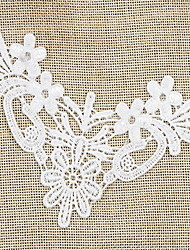 Lace White 1pc Party Cravat & Ascot