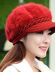 Fashion New Autumn And Winter Ladies Lady Rabbit Cap Warm Winter Rabbit Fur Knit Fashion Caps