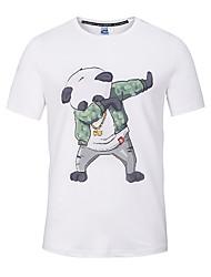 Tee-shirt Hommes,Imprimé Sortie Décontracté / Quotidien Plage simple Chic de Rue Punk & Gothique Toutes les Saisons Manches CourtesCol