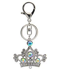 Creative diamond crown Keychain hanging bag diamond auto parts Keychain