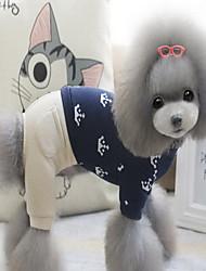 Dog Coat Dog Clothes Cute Cartoon Rose Blue