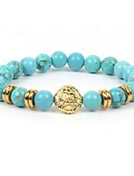 Men's Women's Strand Bracelet Beaded Gemstone Agate Jewelry For Casual