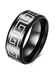 Anéis Diário Casual Jóias Aço Inoxidável Aço Titânio Masculino Anel 1peça,7 8 9 10 Preto