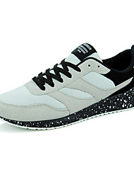 Men's Sneakers Spring Fall Comfort Fleece Casual Flat Heel Lace-up Black Gray Black/Blue Black and Red Black and White