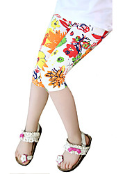 Girl's Cotton Fashion Summer Holiday Wind Going out/Casual/Daily Flower Design Pants