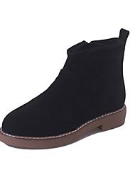 Women's Boots Winter Comfort PU Casual Low Heel Zipper Black Yellow Army Green Other