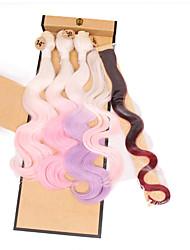synthetic body wave bundles brazilian body wave weaving cheap body waving beautiful color 3pieces body wave 1piece clip hair 1piece closure