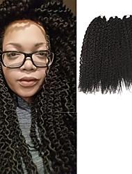 Pré-boucle Tresses crochet Île Twist Kanekalon Brun Extensions de cheveux 40cm Cheveux Tressée
