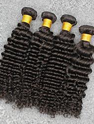 Tissages de cheveux humains Cheveux Vietnamiens Ondulation profonde 12 mois 4 Pièces tissages de cheveux
