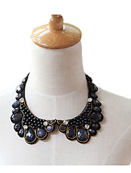 Women's Collar Necklace Gemstone Pearl Lace Basic Fashion Black Jewelry Birthday Daily 1pc