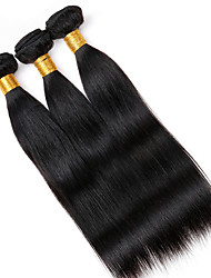 Vinsteen 100% Virgin Brazilian Hair Straight Machine Double Weft 3pcs/lot 16-22 Inches Natural Color Dyeable Wholesale Price Tangle Free