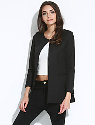 Miyue Women's Fashion  Simple Slim Thin Blazer