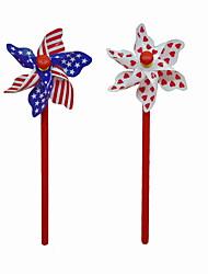 créatif coeur drapeau d'impression plastique stylo à bille de style moulin