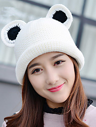 Fashion New Autumn And Winter Cat Ears Ercu Crimping Single - Huadong Mao Warm Warm Sets Of Hat Caps Wool Caps