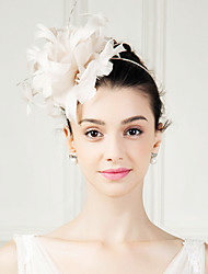 Women's Feather Headpiece-Wedding Special Occasion Fascinators Flowers 1 Piece