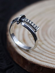 Men's Women's Ring Jewelry Adjustable Open Personalized Costume Jewelry Sterling Silver Jewelry For Daily Casual