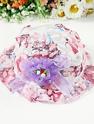 Girl's Fashion Cotton Summer Going out/Casual/Daily Lace Bowknot Flower Yarn Bowknot Hat Children Cap